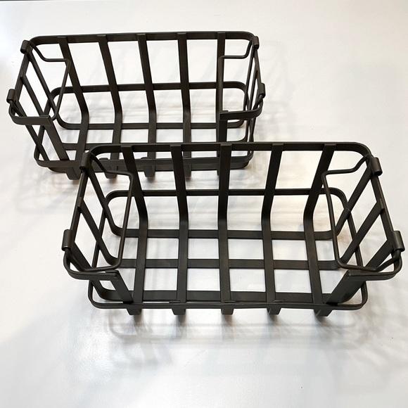 Pottery Barn Metal Stacking Baskets